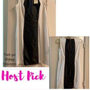 🎉2x HP🎉 Black and white dress textured dress.